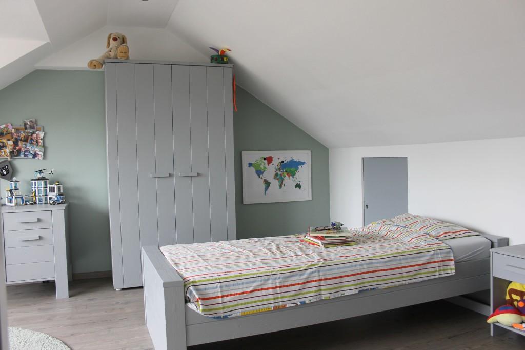 Een foto van een ruime slaapkamer als voorbeeld voor vastgoedfotografie.  #vastgoedfotografie #huistekoop